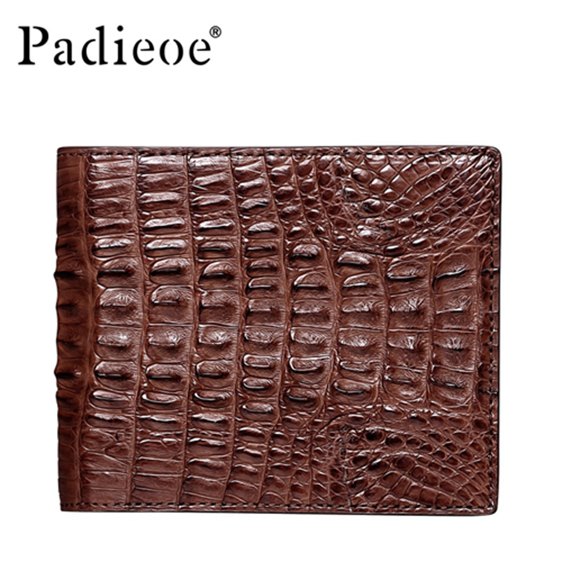 PADIEOE Luxury real crocodile skin wallet men high quality business men's short wallets fashion barnd genuine leather wallet frank buytendijk dealing with dilemmas where business analytics fall short