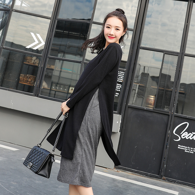 10132f9ade6 2299# Autumn Fashion Maternity Nursing Long Dress Winter Knitted Clothes  for Pregnant Women Pregnancy Breastfeeding Clothing