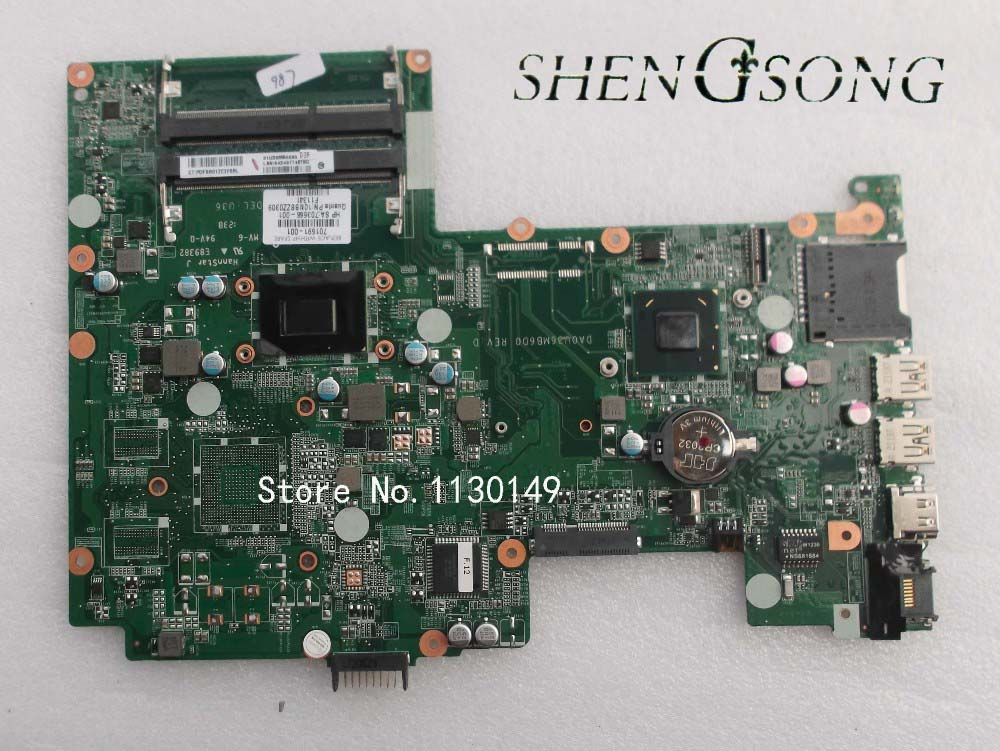 FREE SHIPPING TESTED 701691-501 701691-001 DA0U36MB6D0 REV :D LAPTOP MOTHERBOARD FOR HP PAVILION SLEEKBOOK 15-B NOTEBOOK PC free shipping 720266 001 motherboard for hp pavilion 17 j notebook pc 740m 2g
