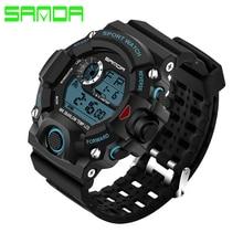 Sanda Deporte Hombres Reloj Marca Moda Casual Digital-reloj LED A Prueba de agua Para Hombre de Choque Reloj de Pulsera Relogio masculino