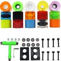 4pcs Sakteboard Wheels 60 45mm Combination Packages Wrench Bearing Bridge Mat Spike Socket Double Rocker Small