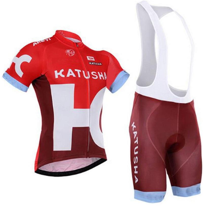 2018 KATUSHA PRO TEAM RED SHORT SLEEVE CYCLING JERSEY SUMMER CYCLING WEAR  ROPA CICLISMO+ BIB SHORTS 9D GEL PAD SET-in Cycling Sets from Sports ... 309db8b49