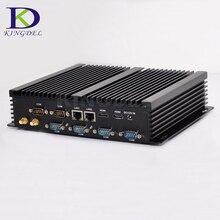 Kingdel безвентиляторный промышленный Мини компьютер Win10 Core i7 i5 i3 2 * Intel Gigabit LAN 6 * RS232 8 * USB Micro компьютер Linux 3g 4G Wi-Fi 2 * HDMI