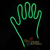 LED Light Gloves Luminesce Gloves Props costumes Cold light production LED Gloves EL Party Night Hot Dance Accessories