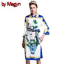 by Megyn Designer Brand High Quality 2017 Women s Coat Fashion Runway Floral Print Jacquard Cotton