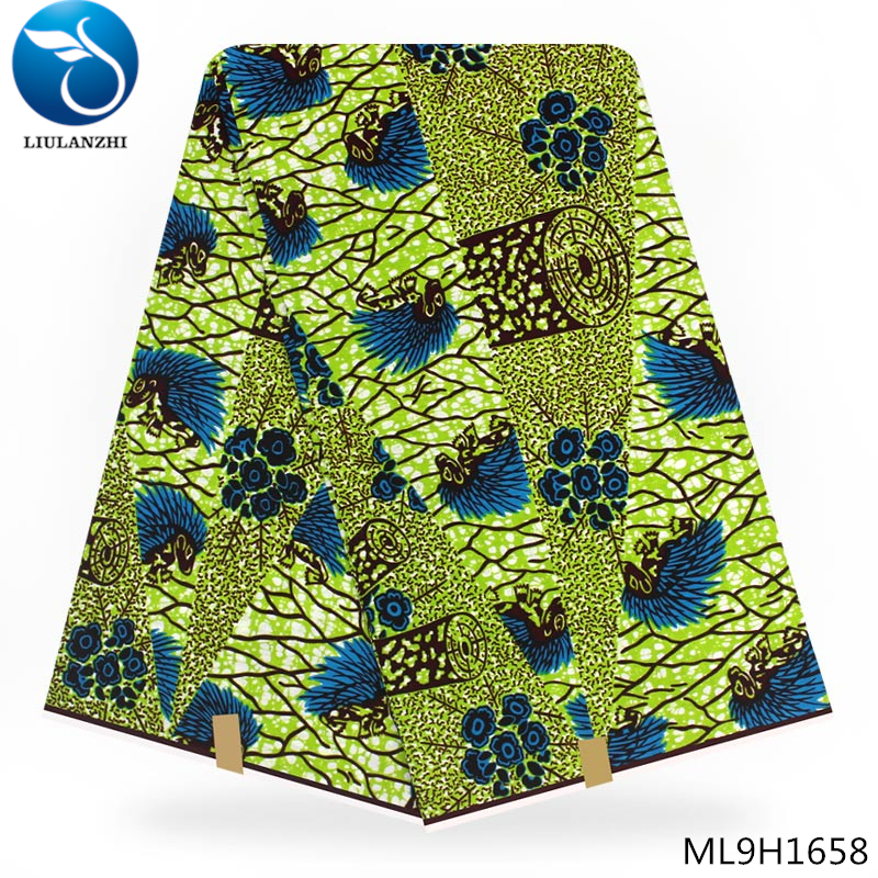 LIULANZHI Special offer Ankara real wax block cotton fabric Nigerian printing wax fabric Best sale ML9H1652 1663 in Fabric from Home Garden