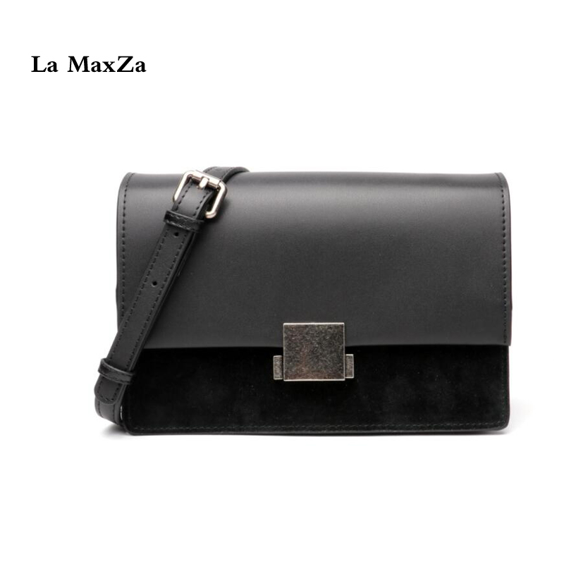 La MaxZa Genuine Leather Handbags For Women Fashion Top Cow Leather Shoulder Bags Popular Messenger Bag Genuine Leather Tote genuine leather