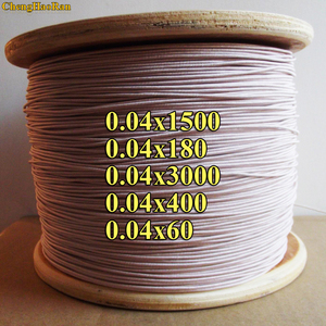 Image 1 - ChengHaoRan 1 m 0.04x1500 0.04x180 0.04x3000 0.04x400 0.04x60 high  frequentie geluid strengen orange zijde envelop litz draad