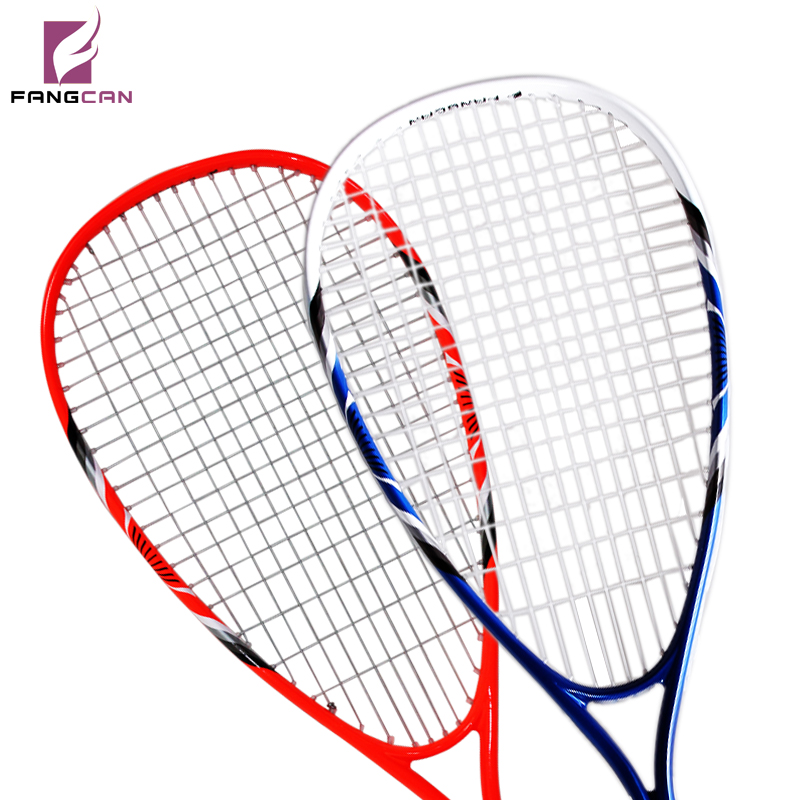 1pc FANGCAN FCSQ-01 Aluminum Composite Alloy Squash Racket for Primary Players with String with 3/4 Cover