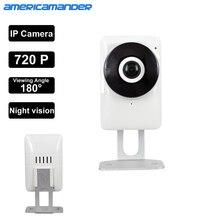 180 Degree Mini WiFi Panoramic IP Camera HD 720P Fisheye Micro SD Camera Wireless Network Audio Surveillance Night Vision Cam