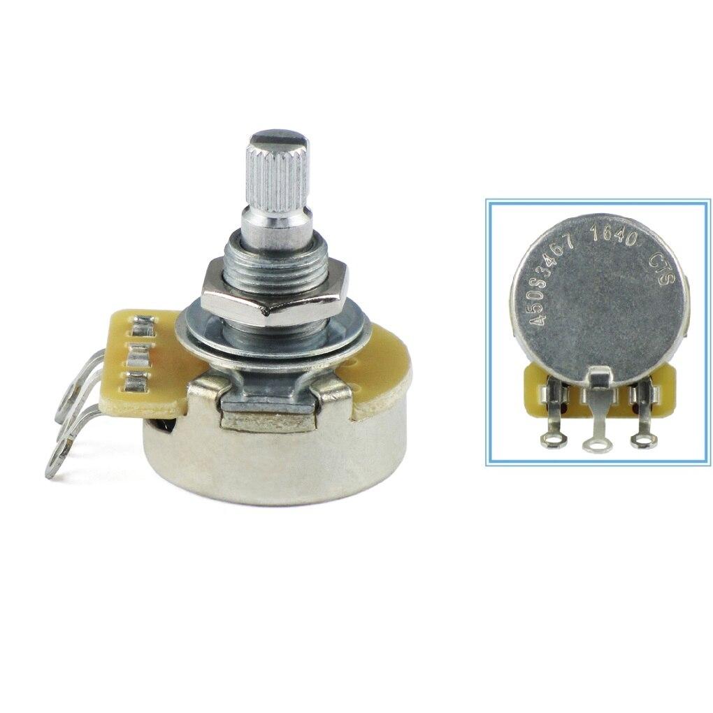 1PCS CTS 450 Series 450S3467 A500K Potentiometer Guitar Audio Taper Aluminum Split Shaft Pot