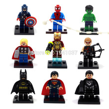 Marvel Super Heroes The Avengers Minifigures 90pcs/lot Iron Man Batman Superman Spiderman Building Block Sets Model Bricks Toys