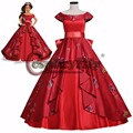 A elena e o Segredo de Avalor Princesa Elena Vermelho Luxo Fantasia Princesa Vestido de Halloween Trajes Cosplay Para Mulheres Custom Made