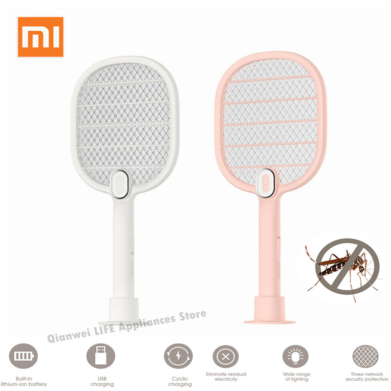 Xiaomi Mijia Electric Mosquito Swatter Killer Portable Handheld Racket Insect Fly Bug Mosquito Zapper Swatter Killer 3 Life