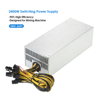 2400W Switching Server Power Supply 90% High Efficiency Professional Mining Machine Power Source for Ethereum S9 S7 L3 Rig Minin
