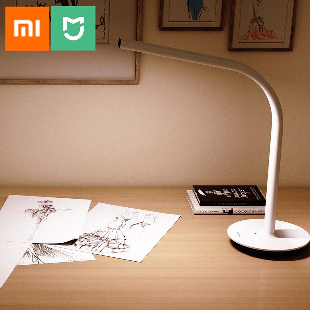 Оригинальная Xiao mi светодио дный mi jia Светодиодная гибкая настольная лампа 2 двойной источник света умная Настольная лампа Датчик окружающег...