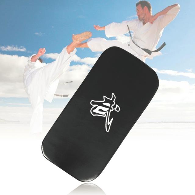 2016 New Leather PU Martial Art Taekwondo MMA Boxing Kicking Punching Foot Target Pad free shipping