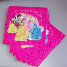 princess party supplies 20pcs Princess Paper Napkin Festive & Party Tissue Supply for Kids Birthday Decorations