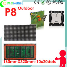aliexpress bus taxi truck vehicle mobile lightweight led screen panel p8 outdoor led module 160x320mm p5 p8 slim led sign board(China)
