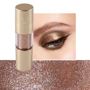 Image 5 - MISS ROSE 8 kolor metalowy cień do powiek Shimmer ciepłe kolory wodoodporny połysk z wzorem pojedynczego oka cień płyn matowy makijaż cień TSLM2