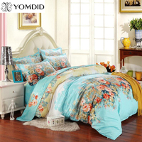 20 Colors Pastoral Floral Printing 3 4pc Bedding Sets Twin Full Queen Size For Home Hotel