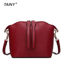 2017 New Arrival Tainy Genuine Leather Cow Leather Fashion Europe women Shoulder Bags & Crossbody Bags
