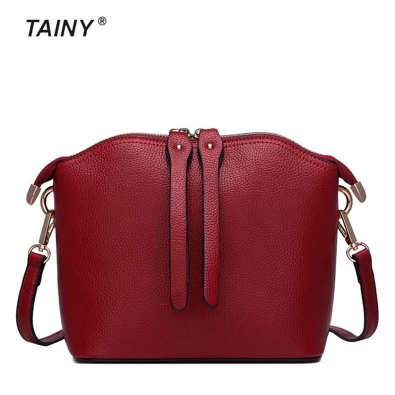 2017 New Arrival Tainy Genuine Leather Cow Leather Fashion Europe women Shoulder Bags & Crossbody Bags цены