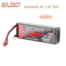 GOLDBAT 2 S RC литий-полимерный аккумулятор Drone Lipo Батарея 7,4 V 80C 6200 mAh пакет с разъем типа «deans» для автомобиля RC грузовой вертолет uav FPV RACING