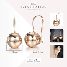 Trendsmax Cut Out Ball Dangle Earrings For Women Girls 585 Rose Gold Earrings 2018 Fashion Jewelry Wedding Gifts For Women GE66