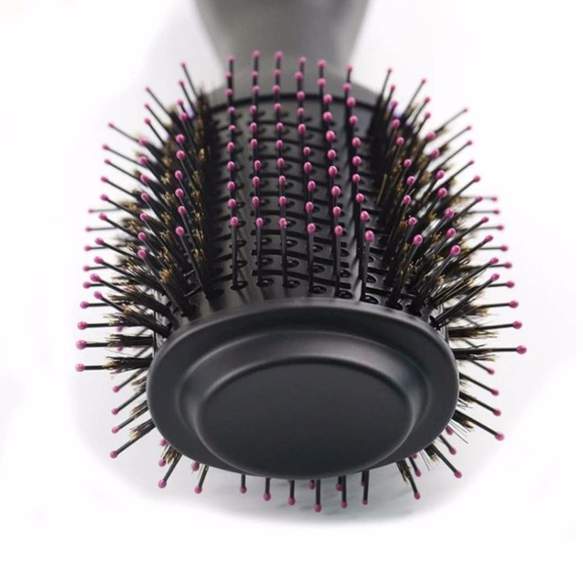 1000W Professional Hair Dryer Brush 2 In 1 Hair Straightener Curler Comb Electric Blow Dryer With Comb Hair Brush Roller Styler