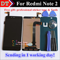 Alta Qualidade Display Lcd + Digitador Assembléia Tela de Toque Para xiaomi hongmi note 2 redmi note 2 celular 1920*1080 com presentes