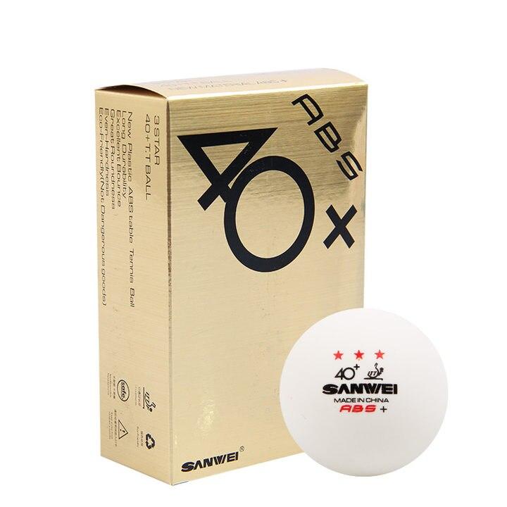 SANWEI золото 3-Star Пластик 40 +/ABS PRO настольный теннис мяч ITTF утвержден новый Материал ABS поли для пинг-понга оптовая продажа