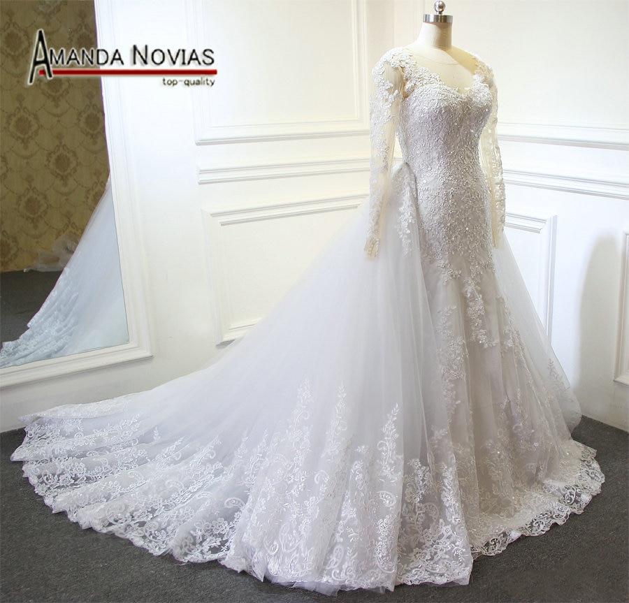 New Arrival Wedding Dress With Detachable Train vestidos de novia