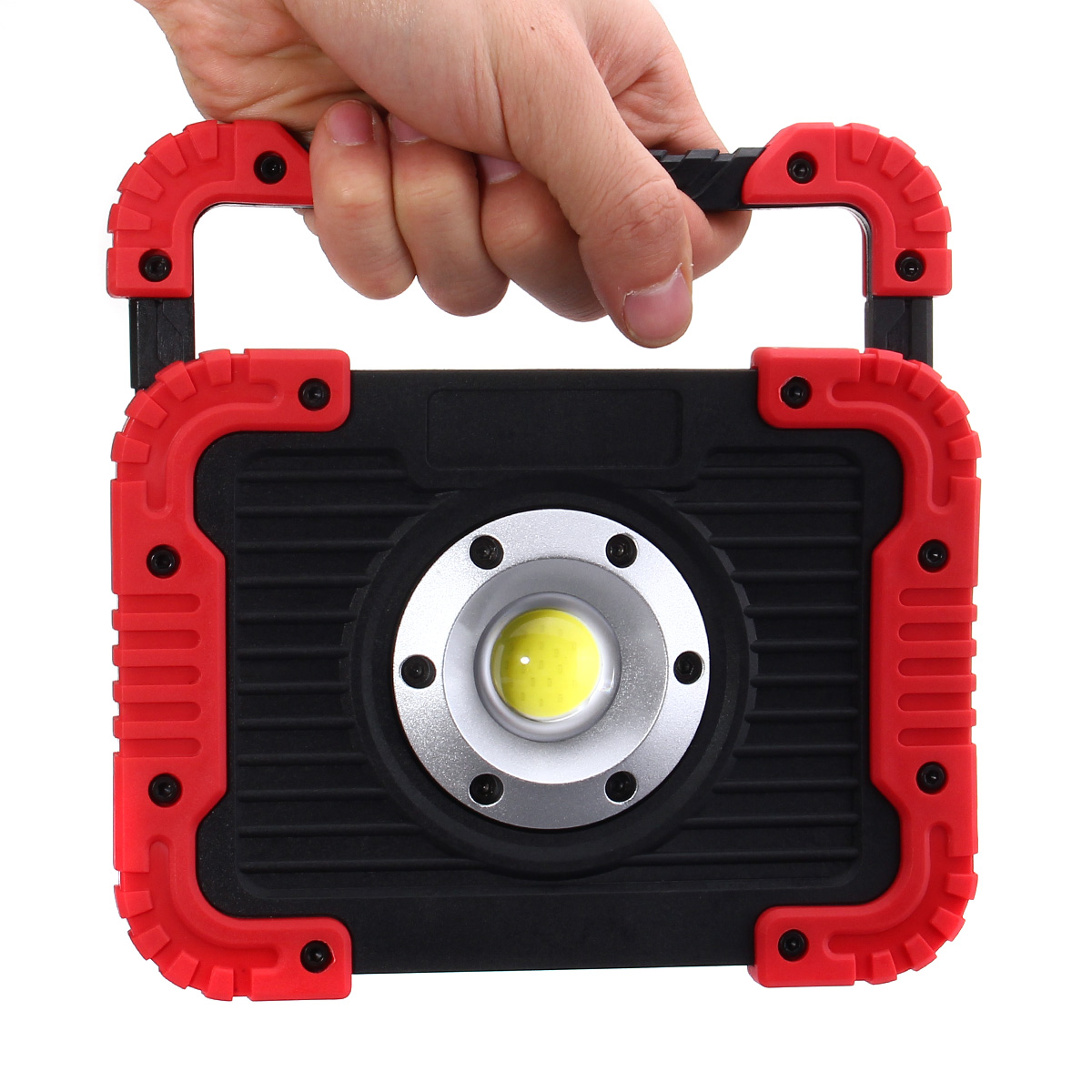 Versprechende 30 Watt COB LED Arbeitslicht Flutlicht Taschenlampe Camping Scheinwerfer Suchscheinwerfer Eingebaute Wiederaufladbare Li-Batterien Mit USB