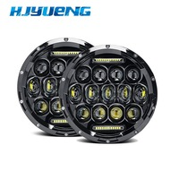 1 Pair 7 Also For Jeep Wrangler JK TJ 75W Motorcycle LED Headlight Projector H4 H13