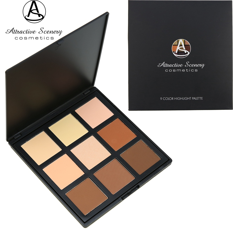9 Color Contour Powder Palette Attractive Scenery Brand High-quality Makeup Face Pressed Concealer Cosmetics