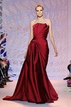 Neue Nach Maß Abendkleid Liebsten Ärmellosen Wein Roten Cocktail Party Mode Kleider Robe De Soiree MY1008-13