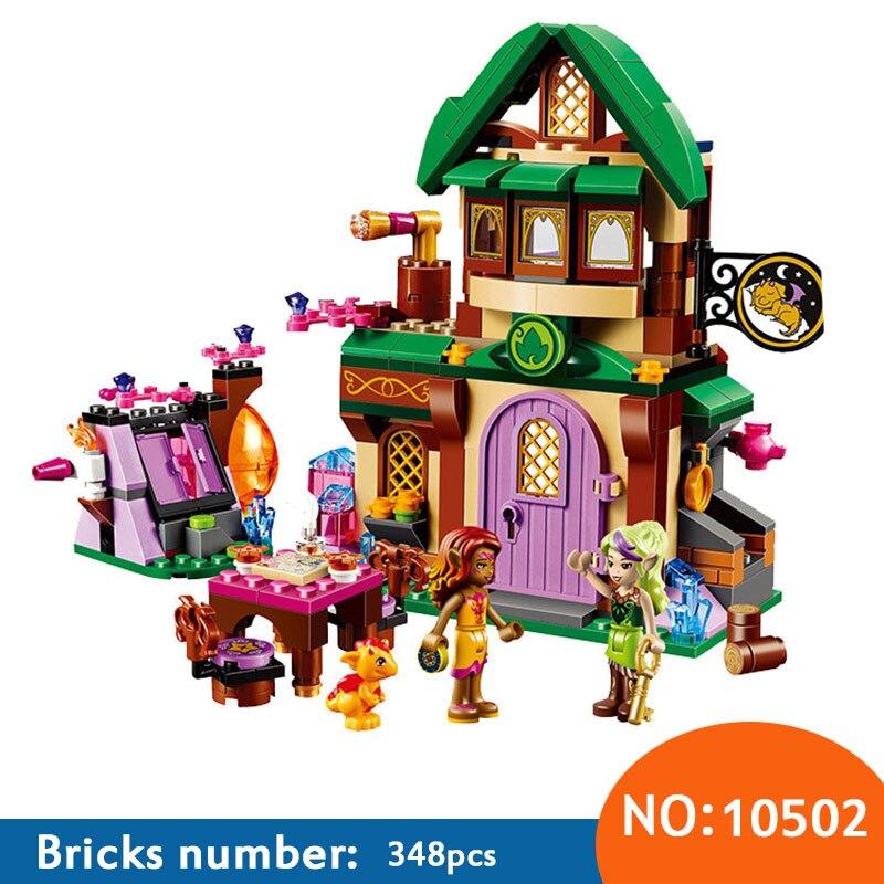 348 Pcs AIBOULLY 2017 Nouveau 10502 Ami Elfes Le Starlight Inn Kits minis Compatible Avec 41174 Blocs de Construction Briques Fille jouets