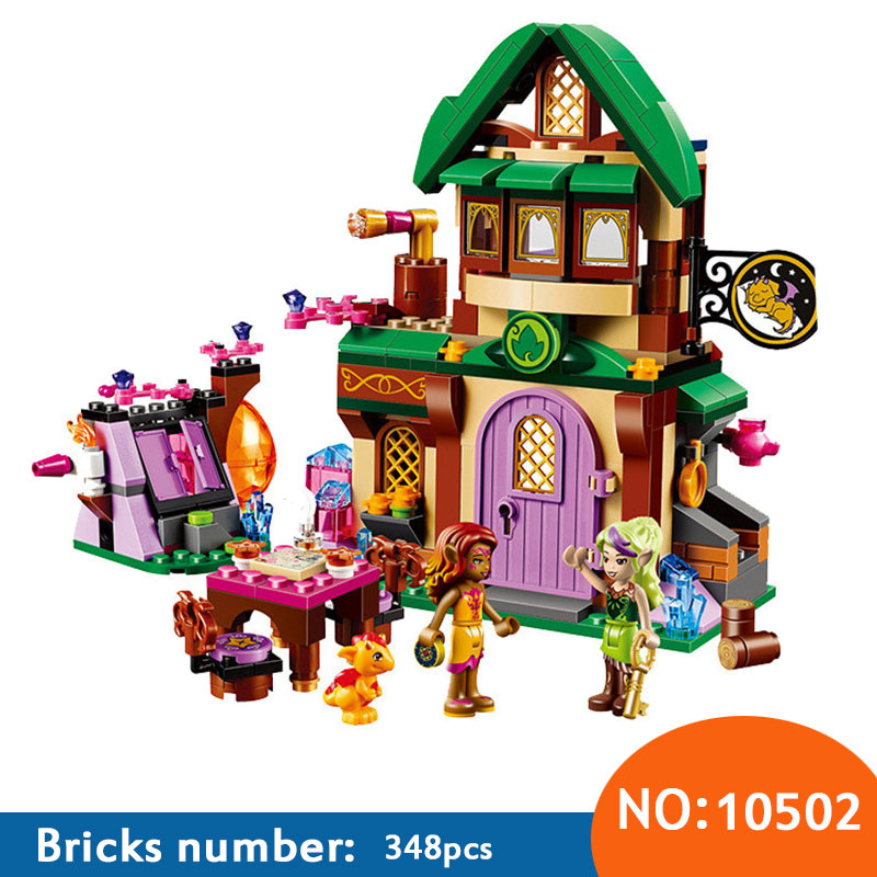 348Pcs AIBOULLY 2017 New 10502 Friend Elves The Starlight Inn Kits minis Compatible With 41174 Building Blocks Bricks Girl Toys ynynoo bela 10501 233pcs princess friend elves elvendale school of dragons model building kits blocks brick with 41173