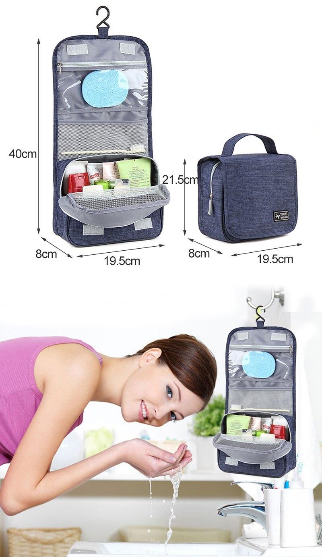 57f3875109 LDAJMW Portable Folding Toiletry Cosmetic Makeup Storage Bag Wash ...