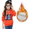 Nova Marca 2016 Outono Inverno Crianças Hoodies Para Meninas Moda Longa-manga comprida de Algodão Outwear Pullovers Casual Camisolas das Crianças