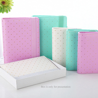 A5 Gold Binder Only Dotted Notebook Spiral Agenda Mint White Planner Cute Journals Books Diary School Supplies