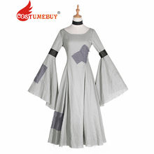 c4cc693a8dfef CostumeBuy Cinderella Medieval Dress Renaissance Victorian Renaissance  Retro Dress Women Trumpet Sleeves Dress L920