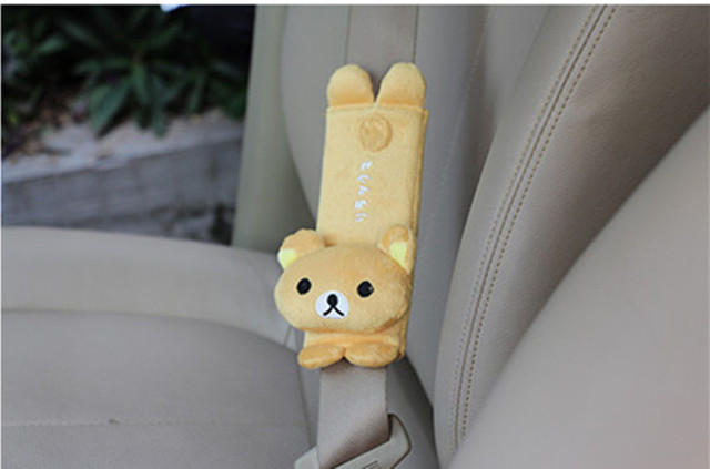 FLYJ  cute Cartoon Car Sefety Seat Belt cover Child isofix Seat belt Shoulder Pads Protection Plush Padding Auto Accessories