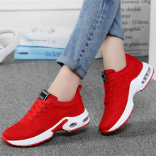 New high quality cushion female breathable shoes fly woven sneakers casual mesh womens lightweight fashion