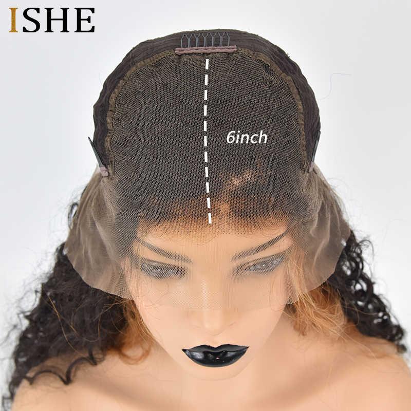 Омбре вьющиеся 27 блонд парик 360 кружева спереди al парик предварительно сорвал с волосами младенца Бразильские глубокие части 13x6 кружева передние человеческие волосы парики