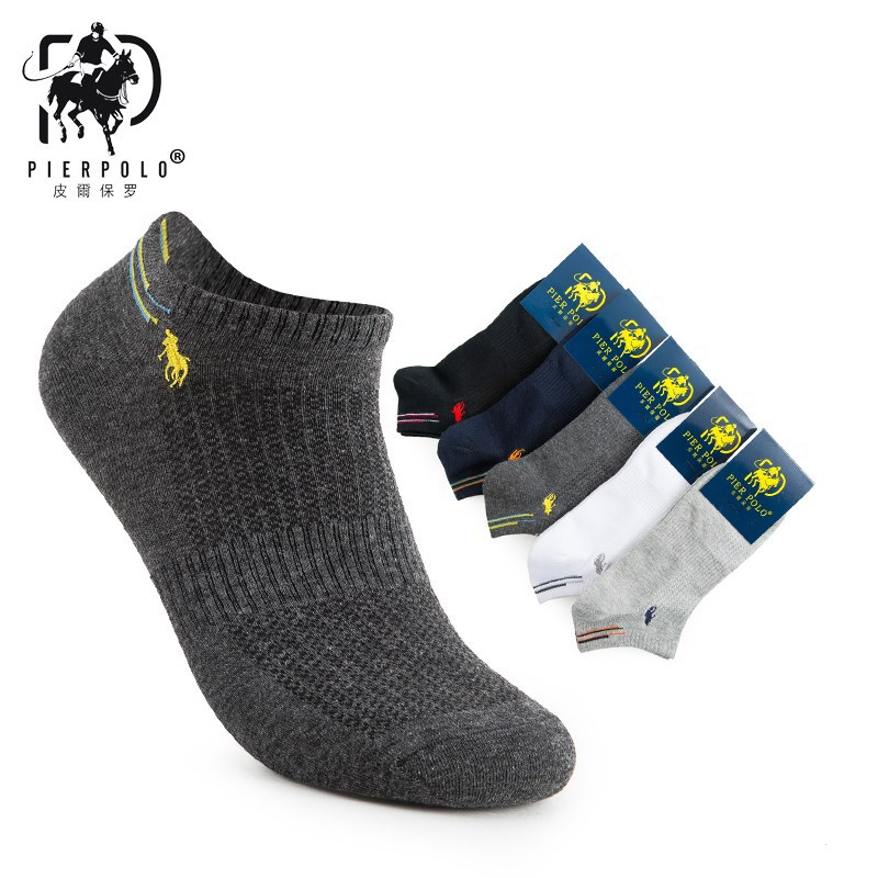 Fashion Colorful Brand Polo Men Socks Male Casual Short Low Cut Ankle Socks Man Pure Cotton Socks (5Pairs/lot)