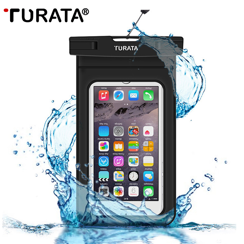 TURATA Universal Waterproof Case for iPhone 7 6 6S Plus Samsung Galaxy S7 S6 Edge Note 5 Best WaterProof Pouch Bag for CellPhone