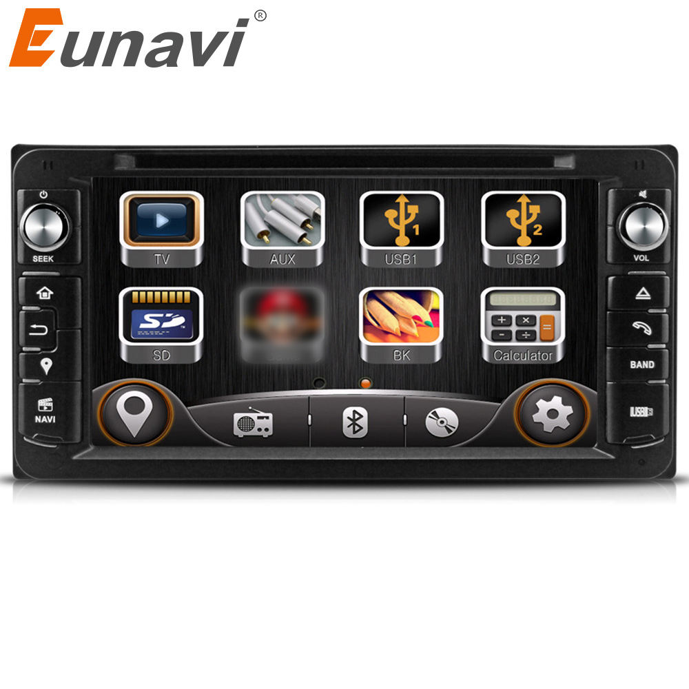 где купить Eunavi 2 Din car gps dvd for toyota Toyota Hilux VIOS Old Camry Prado RAV4 Prado 2004 2005 2006 2007 2008 car dvd player дешево