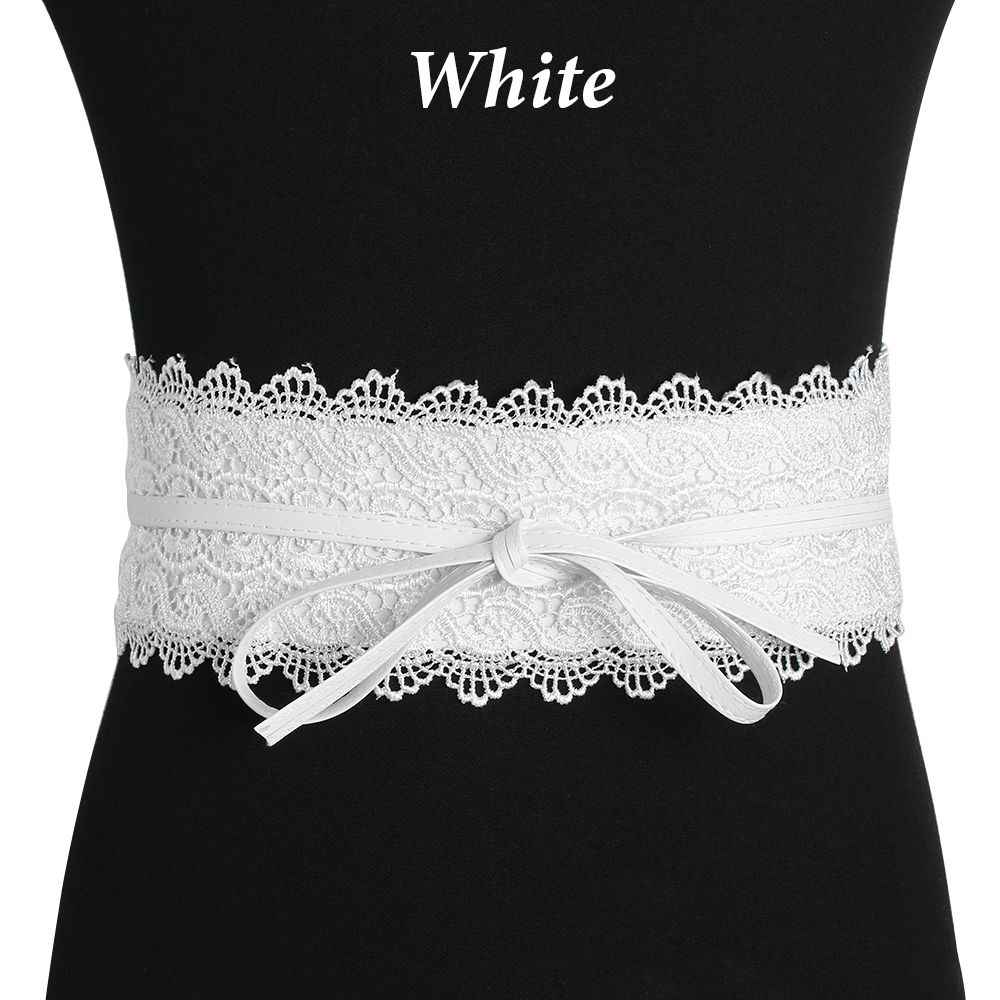 01953399f3 Gootrades Black Red Wide Corset Lace Belt Female Self Tie Waistband Belts  for Women Wedding Dress